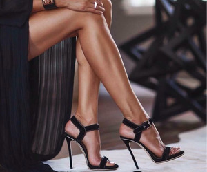 black, classy, and evening dress image