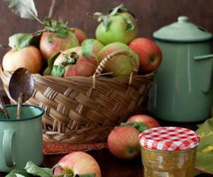fruit, apple, and basket image