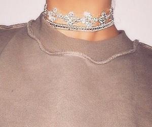 fashion, choker, and diamond image