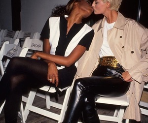 Naomi Campbell, linda evangelista, and model image