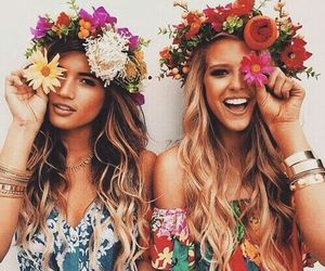 flowers, happy, and fashion image