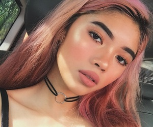 eyebrows, peach, and diverse image