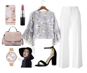 flower, hijab, and Polyvore image