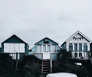 house, blue, and travel image