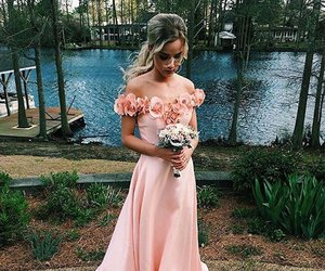 fashion, girl, and gowns image