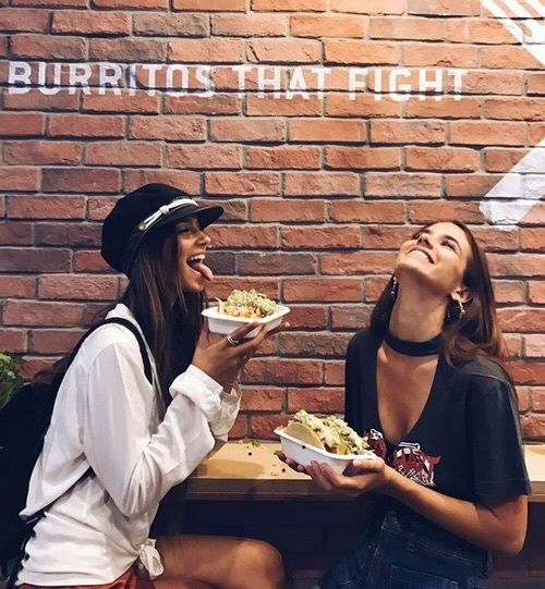 friends, girl, and food image