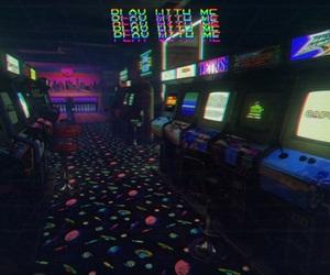 casino, neon, and dark image