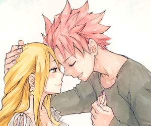 anime, couples, and Lucy image