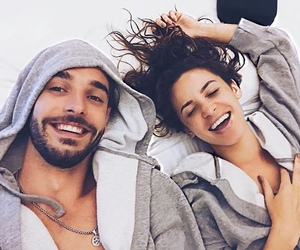 cute couple, fashion, and hair image