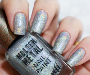 barry m, glitter, and holographic image