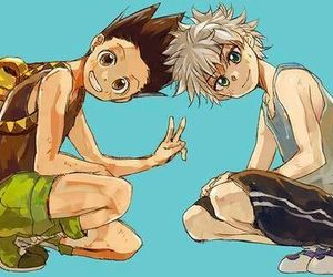 gon, hunter x hunter, and killua image