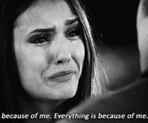 sad, quotes, and tvd image