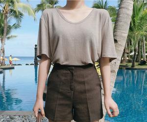 asian fashion, korean fashion, and shorts image