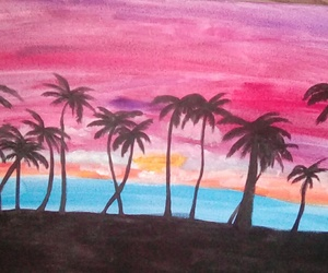 art, artist, and beach image