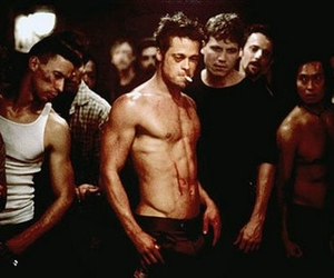 brad pitt, fight club, and movie image