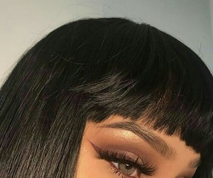 makeup, hair, and eyes image
