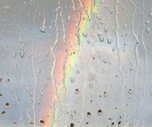 rainbow, rain, and nature image