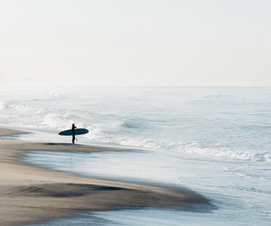 beach, nature, and surf image