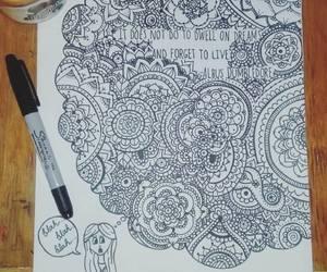 albus dumbledore, art, and zentangle image