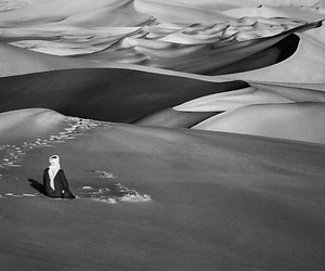 desert and black and white image
