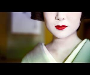 makeup, kimono, and geiko image