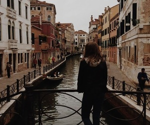 canal, girl, and hair image