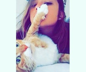 cat, girl, and بُنَاتّ image