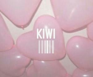 aesthetic, kiwi, and pink image