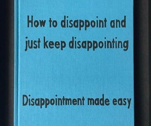 book, disappointment, and guide image