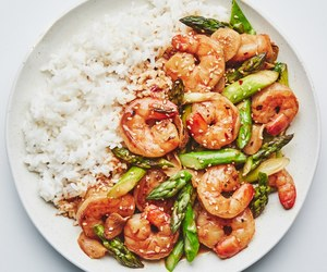rice, shrimp, and asian food image