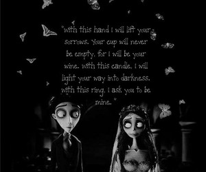 caption, corpse bride, and love image