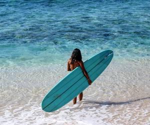 ocean, beach, and girl image