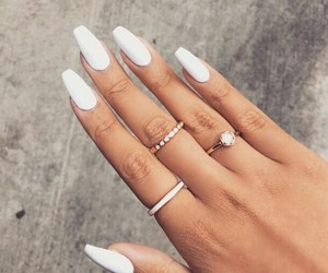white, beauty, and nails image