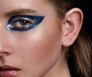 make, gliter, and editorial makeup image