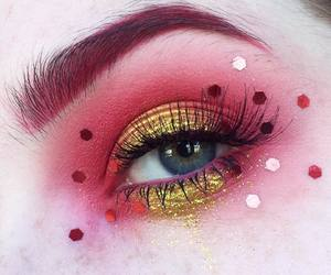 editorial, makeup, and glitter image