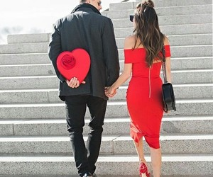 couple, red, and love image