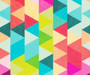 colors, patterns, and triangles image