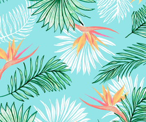 pattern, illustration, and leaves image
