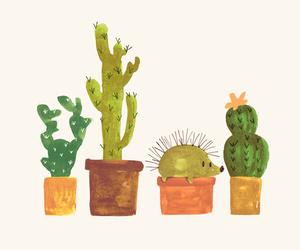 cactus, cute, and hedgehog image