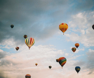 aesthetic, sky, and baloons image