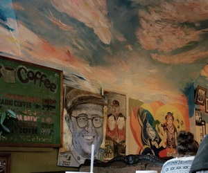 art, cafe, and mural image