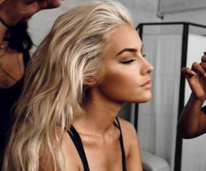 Haistyle, hair colour, and jean watts image