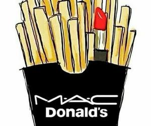 mac, lipstick, and food image