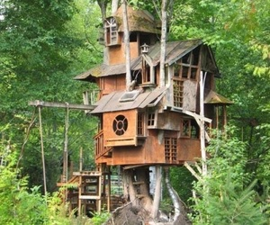 magical, treehouse, and trees image