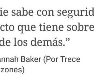 frases, hannah baker, and quotes image
