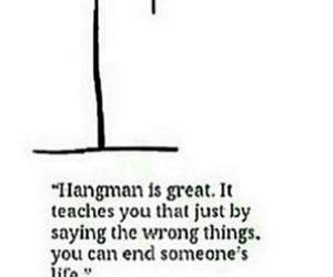 hangman, sad, and depressed image