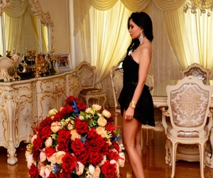 flowers, luxury, and dress image