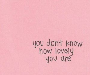 quotes, lovely, and pink image