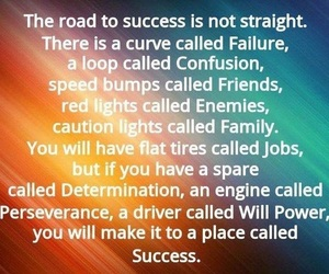 life, road, and success image