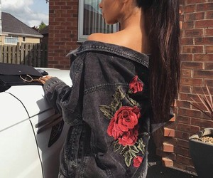 fashion, hair, and rose image